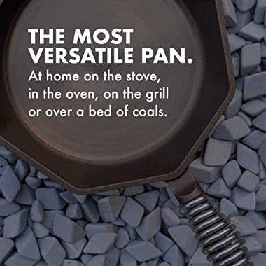 """FINEX 12"""" Cast Iron Skillet with Lid, Modern Heirloom, Handcrafted in The USA, Pre-Seasoned with Organic Flaxseed Oil"""