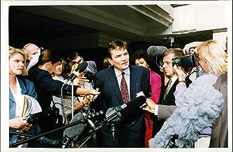 Vintage photo of Bosnian Politician Haris Silajdzic at press conference