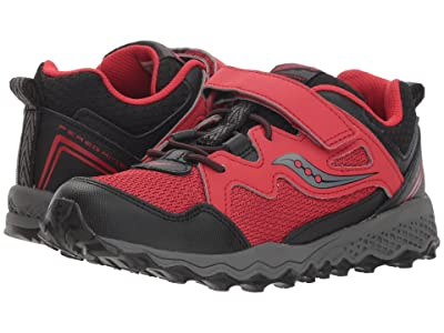 Saucony Kids Peregrine Shield 2 A/C (Little Kid/Big Kid) (Red/Black) Boys Shoes
