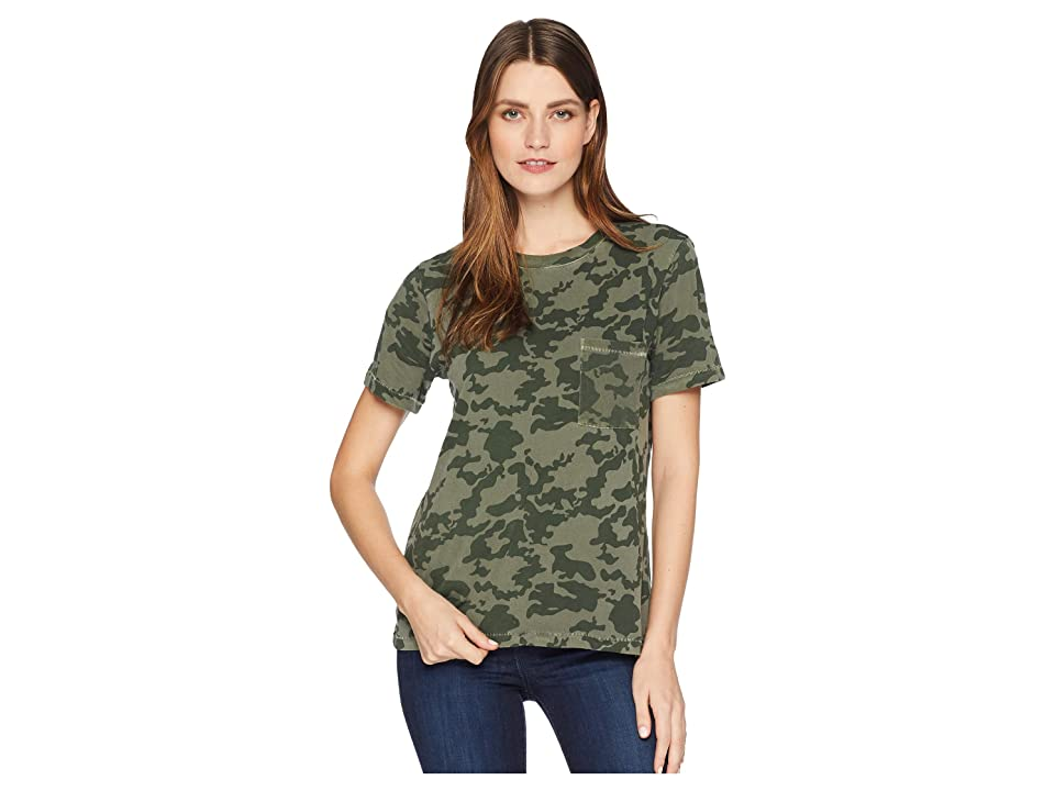 71ec3157 Lucky Brand Camo Pocket Tee (Camo Olive Multi) Women's T Shirt