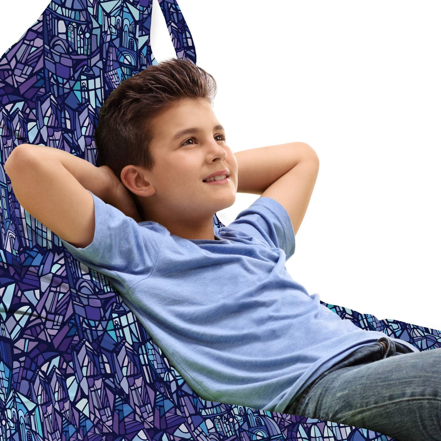 Lunarable Modern Lounger Selling Chair Bag Inspired Glass Cluttered Max 78% OFF Fan