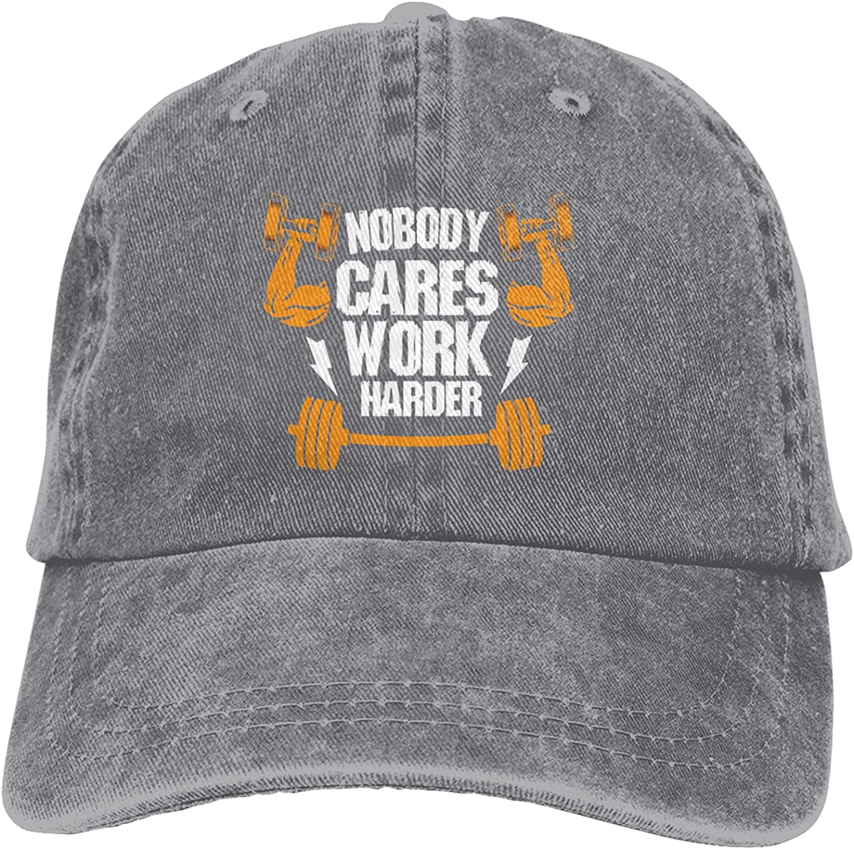 Nobody Cares Work Harder Unisex Adult Stylish Hat Cowboy Direct sale of Charlotte Mall manufacturer Ha Cool