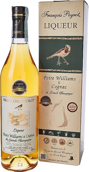 Cognac alle pere williams - 700 ml françois peyrot 3503970360053