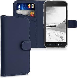 kwmobile Étui à Rabat Compatible avec Samsung Galaxy Xcover 4 / 4S - Coque à Rabat Simili Cuir avec Compartiment Cartes Su...