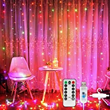 Window Curtain String Light,Waterproof Lights 300 LED Fairy Lights Curtain for Wedding Party Home Garden Bedroom Outdoor I...