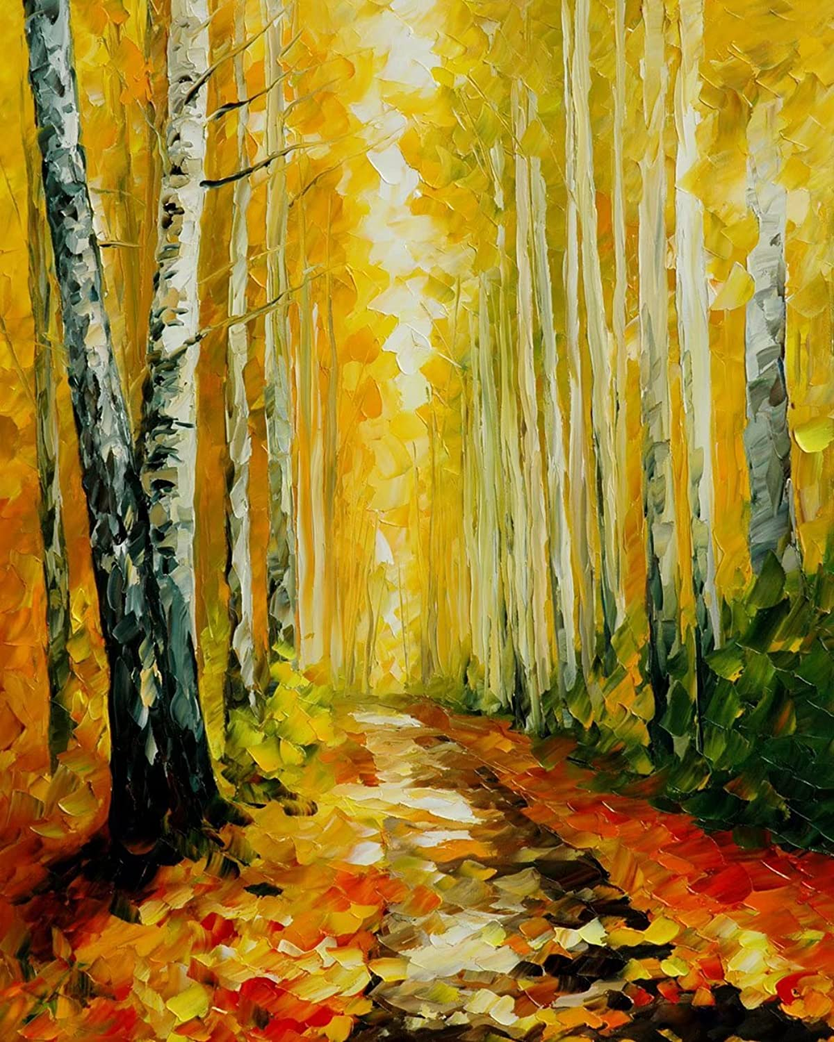 DIY 5D Full Diamond Painting Cross Stitch Autumn Forest Picture With Diamond Embroidered Handmade Rhinestone Crystal Embroidery Mosaic Craft Art Wall Decor