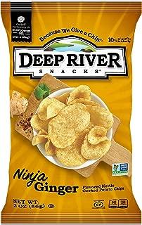 Deep River Snacks Kettle Potato Chips, Ninja Ginger, 2-Ounce (Pack of 24), Gluten Free, Non GMO