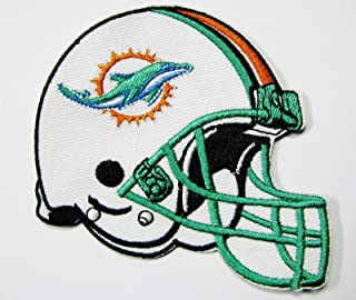 NFL Miami Dolphins Helmet Patch Patches 3 1/2