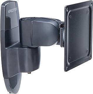 ERGOTRON Seria 200 przegub montażowy do ściany czarny pochylany lub obracany do 68,6 cm 27 cali maks. 11,3 kg. VES 75x75 1...