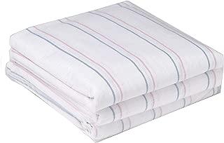 Medline 3 Pack, Hospital Receiving Blankets, Baby Blankets, 100% Cotton, 36