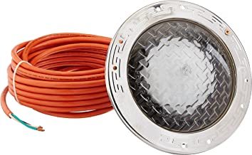 Pentair 78438100 Amerlite Underwater Incandescent Pool Light with Stainless Steel Face Ring, 12 Volt, 50 Foot Cord, 300 Watt