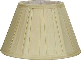 Better & Best 0211257–écran de lampe de soie, table large, de 25cm, couleur jaune