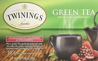 Twining Tea Green Pomegranate, Raspberry, Strawberry, 20 ct