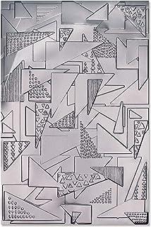 Sizzix 664528 Dossier de gaufrage 3 D Impresslits Triangles de Jessica Scott Taille Unique Matrices de découpe pour scrapb...