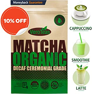 organic decaf matcha powder