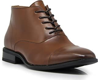 Gravity01 Men Classic Captoe Chukka Ankle Chelsea Oxfords Dress Boots Lace Up Dress Shoes