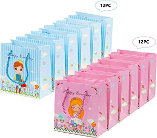 24 PC Sweet Prince and Princess Gift Bags Party Favor Bags Goodie Bags