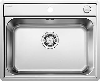 BLANCO LEMIS 6-IF - Edelstahlspüle für die Küche für 60 cm breite Unterschränke - Mit IF-Flachrand, ohne Abtropffläche - 525109