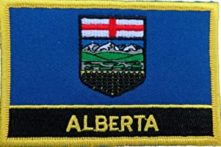 1000 Flags Alberta Canada Flag Embroidered Blazer Badge Patch