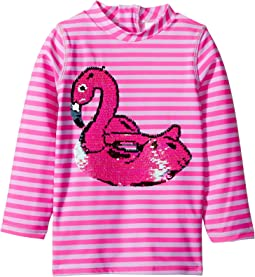Magic Two-Way Sequin Swan Float Rashguard (Toddler)