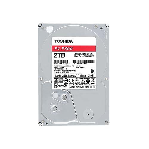 """TOSHIBA P300 disque dur interne 2 To – 3,5"""" (pouces) – disque dur SATA (HDD) – 7200 tours par minute (tpm) – 6 Go/s – pour ordinateurs de jeu, PCs de bureau, stations de travail, etc."""