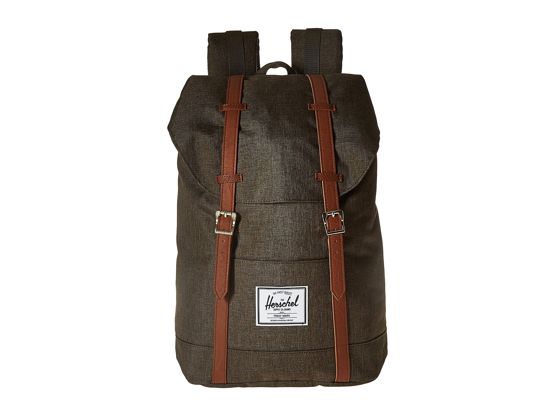 tan Synthetic Co Retreat Crosshatch Canteen Leather Supply Herschel XaUAx