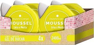 Moussel Gel de Ducha Lima y Menta - Pack de 4 x 600 ml Total: 2400 ml