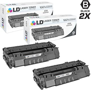 LD Compatible Toner Cartridge Replacement for HP 49A Q5949A (Black, 2-Pack)