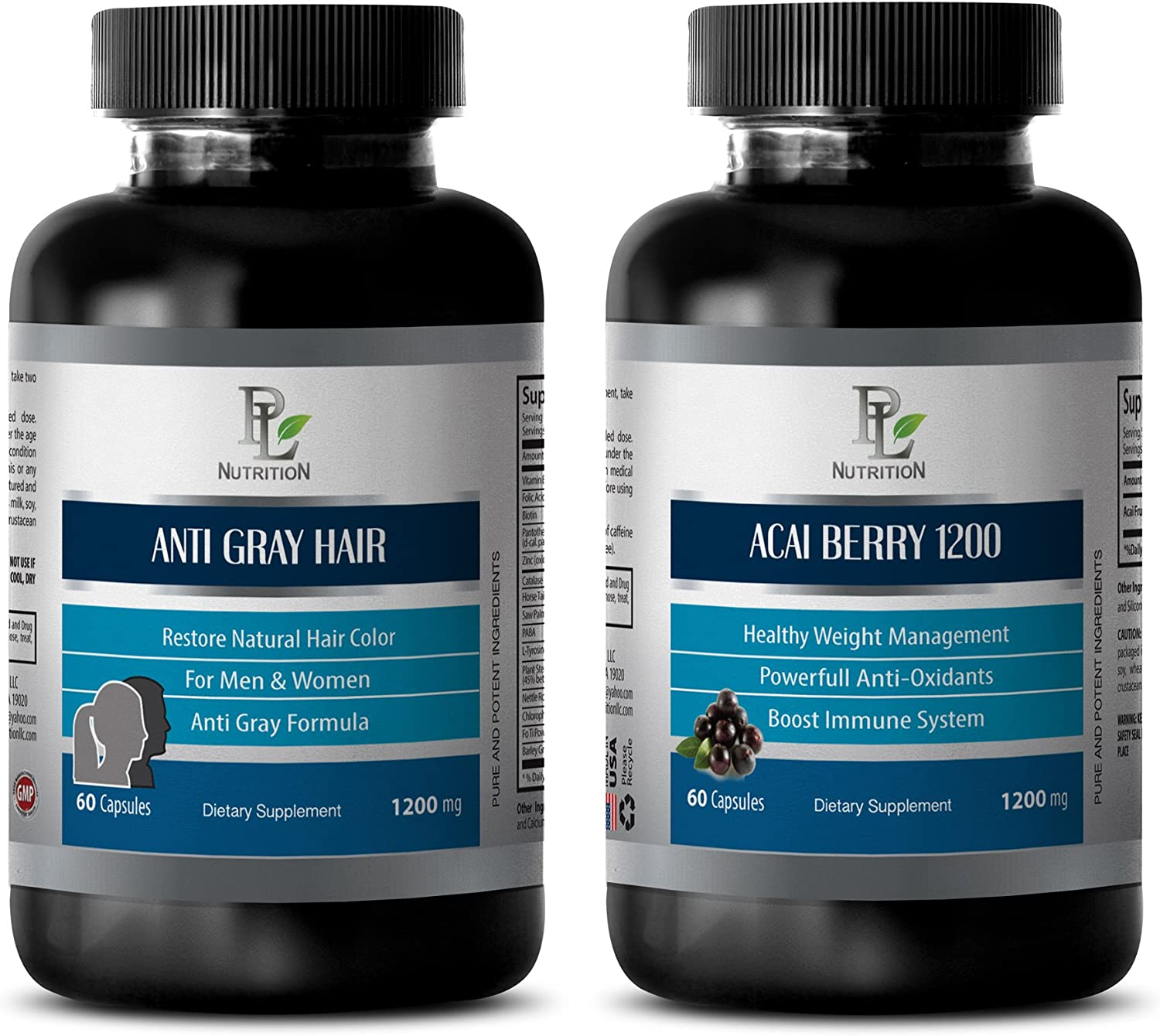 antioxidant Supplement Ranking TOP6 - Anti Gray Hair – ACAI 1200 Berry Sale special price
