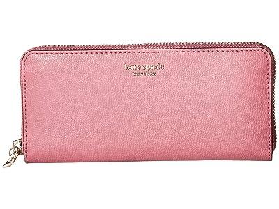 Kate Spade New York Margaux Slim Continental Wallet (Blustery Pink) Checkbook Wallet