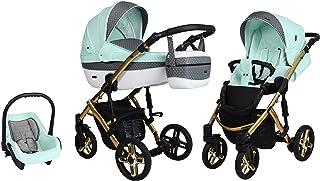 Passeggino SaintBaby Lava Gold 2in1 3in1 Isofix seggiolino per bambini passeggino combi buggy Mint 08 4in1 con Ovetto + Is...