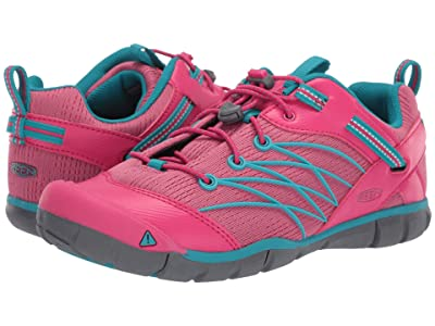 Keen Kids Chandler CNX (Little Kid/Big Kid) (Bright Pink/Lake Green) Girl