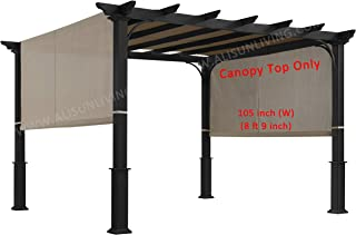 ALISUN Replacement Sling Canopy (with Ties) for The Lowe's Garden Treasures 10 FT..