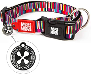 Max & Molly Shopping Time Smart Id Collar  Comfortable   Odor Free Neoprene  Smart Id Tag   Lost Pet Protection Program   ...