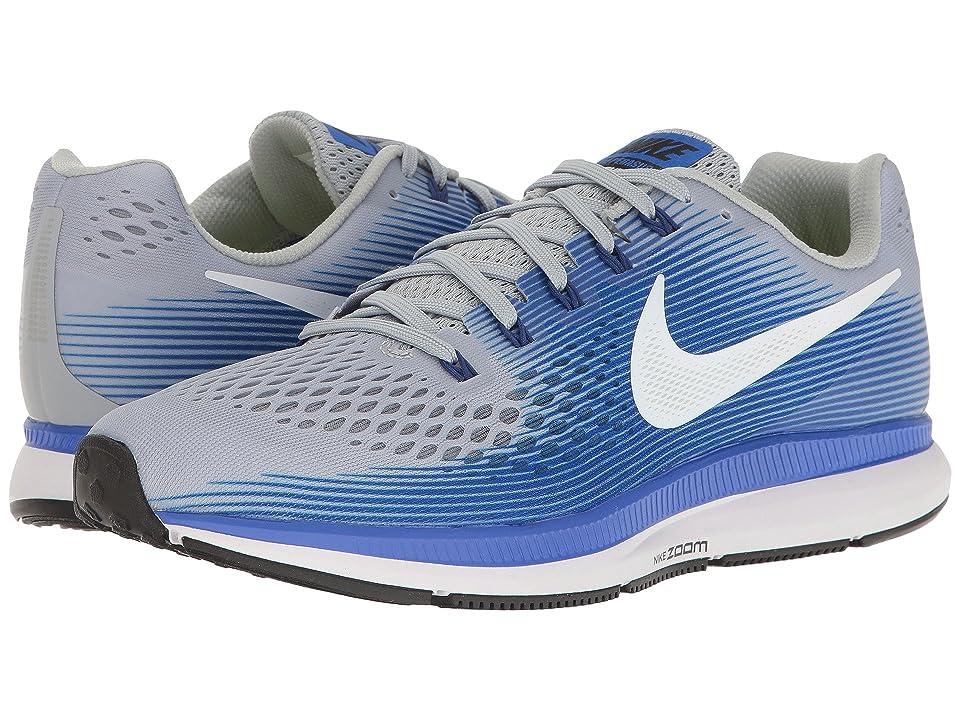 Nike Air Zoom Pegasus 34 (Wolf Grey/White/Racer Blue) Men