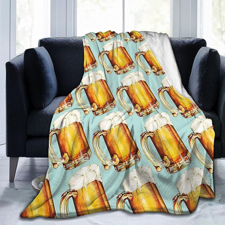 Beer Fleece Throw Sale special price Blankets Decorative Flannel Blanket Blank Finally resale start Warm