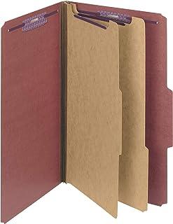 Smead Pressboard Classification File Folder with SafeSHIELD Fasteners, 2 Dividers, 2