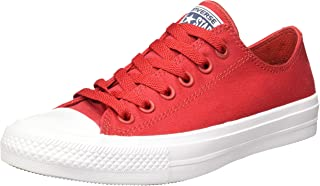 Unisex Chuck Taylor All Star II Ox Salsa Red/White/Navy Sneaker