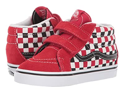 Vans Kids Sk8-Mid Reissue V (Infant/Toddler) ((Checkerboard) Black/Racing Red) Boy