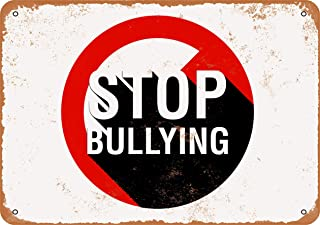 Wall-Color 7 x 10 Metal Sign - Stop Bullying - Vintage Look Reproduction