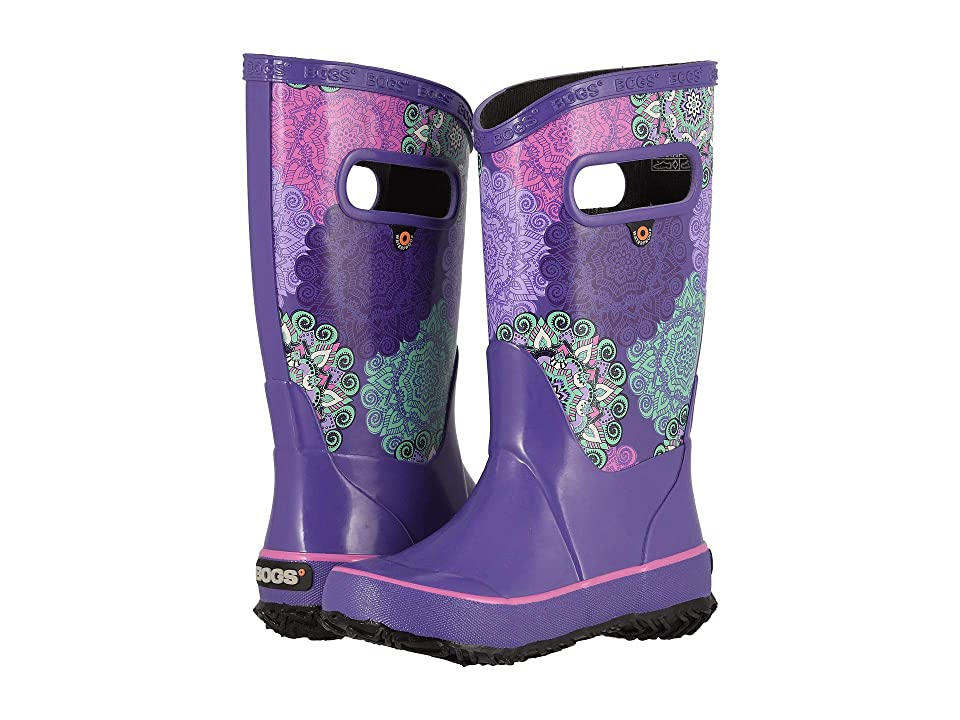 Bogs Kids Rain Boot Mandalla (Toddler/Little Kid/Big Kid) (Violet Multi) Girls Shoes