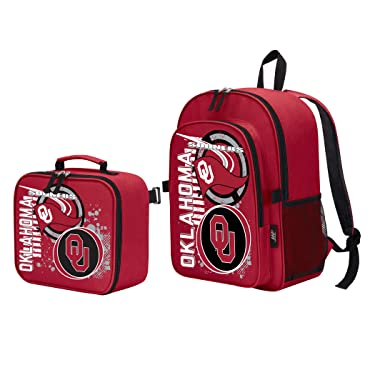 """Officially Licensed NCAA Accelerator Backpack & Lunch Kit Set, Multi Color, 16"""" x 9.5"""" x 12"""""""