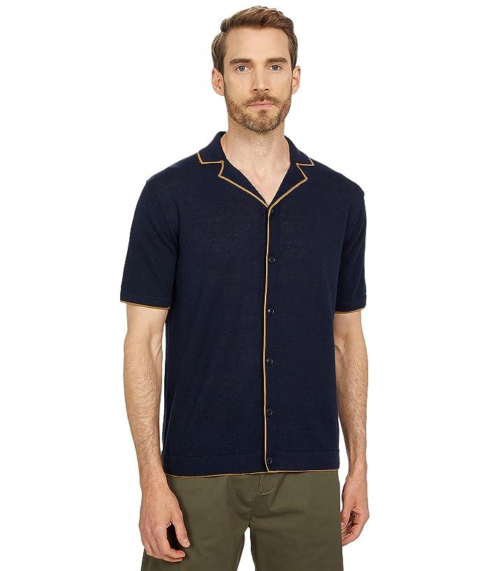 1970s Men's Clothes, Fashion, Outfits Scotch  Soda Knitted Linen-Blend Short Sleeve Shirt $128.00 AT vintagedancer.com