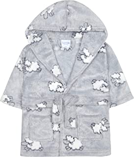 Babies Lamb Embossed Snuggle Dressing Gown