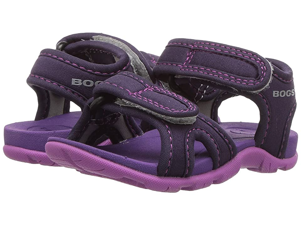 Bogs Kids Whitefish Solid (Toddler) (Eggplant Multi) Girls Shoes