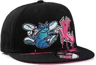 "Underground Kulture Neon Stars Flat Peak Black XL Baseball Cap 7 1//2/"""