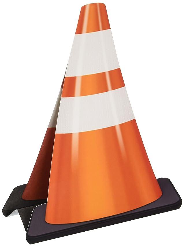 Beistle 57335 3 Dimensional Construction Cone Centerpiece, 11-Inch