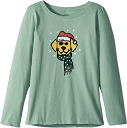 Life is Good Kids - Holiday Dog Long Sleeve Crusher Tee (Little Kids/Big Kids)