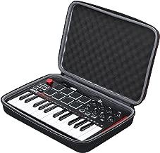 جراب صلب من XANAD لجهاز Akai Professional Fire أو MPK Mini MKII أو MPK Mini Play Keyboard - حقيبة واقية لحمل السفر لتخزين الأغراض