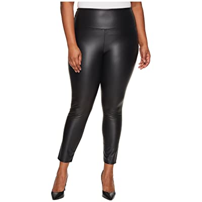 Lysse Plus Size Vegan Leather Leggings (Black) Women